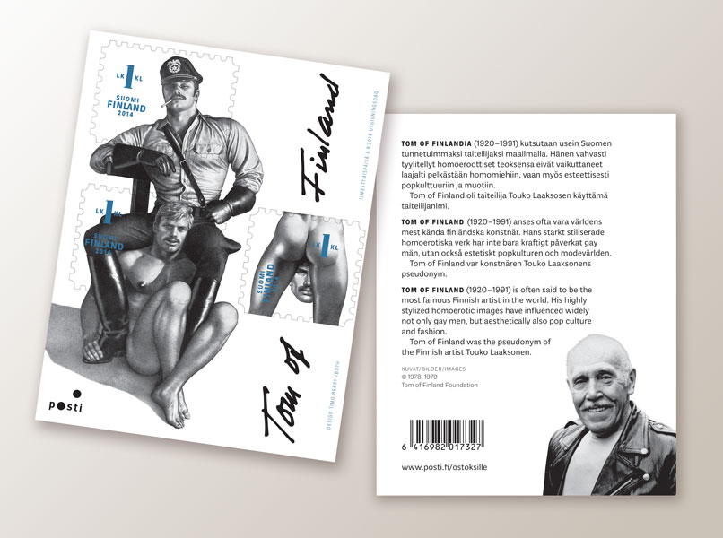 The Tom of Finland stamp sheet.